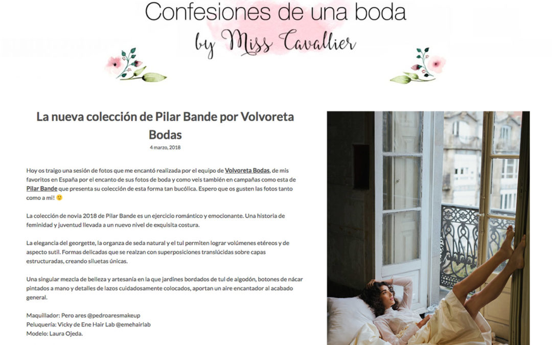 THE NEW COLLECTION BY PILAR BANDE WITH PHOTOGRAPHS BY VOLVORETA BODAS